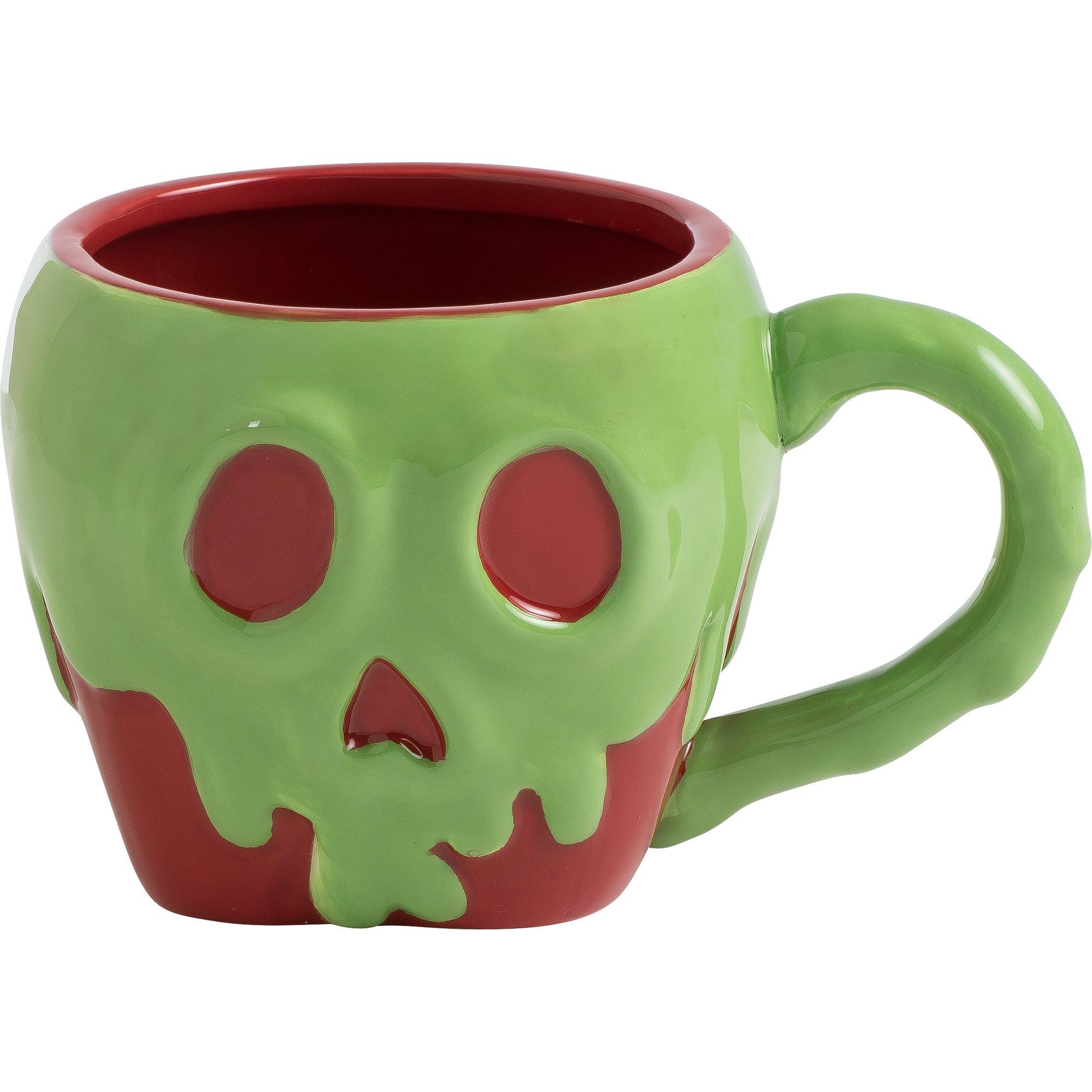Vandor Disney Snow White Poison Apple Shaped Ceramic Soup Coffee Mug Cup, 4.6 x 6.5 Inch