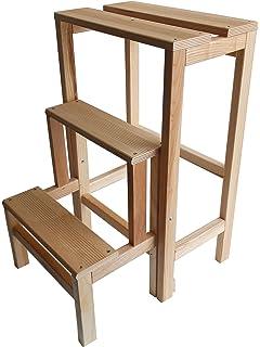 Valdomo 156/12 Sgabellone Suegiù escalera de madera de haya, nogal, madera de nogal: Amazon.es: Bricolaje y herramientas