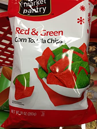 marketplace christmas colored red green tortilla chips from target