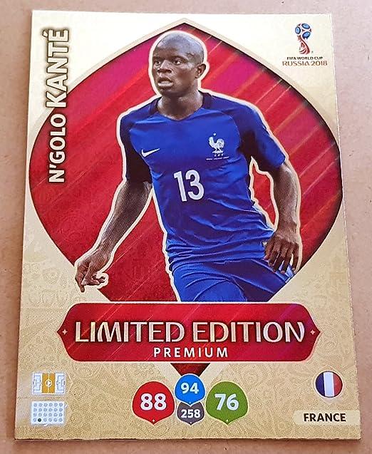 Adrenalyn XL FIFA World Cup 2018 Rusia - N golo Kante Premium tarjeta de comercio de edición limitada - Francia: Amazon.es: Deportes y aire libre