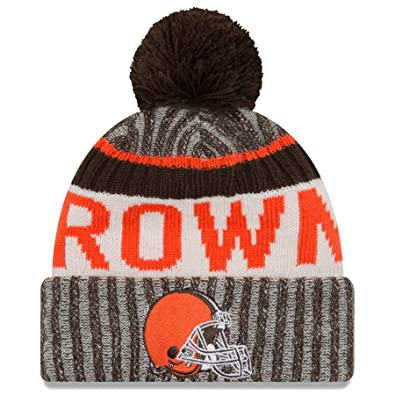 Image Unavailable. Image not available for. Color  New Era Cleveland Browns  2017 NFL Sideline On Field Sport Knit Hat - Brown 374278e9a