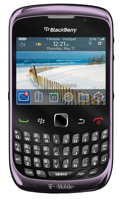 Amazon.com: BlackBerry Curve 9300, Violet (T-Mobile): Cell Phones &  Accessories