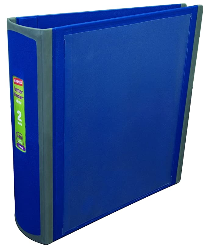 staples better binder 2 inch blue 648833 christmas holiday