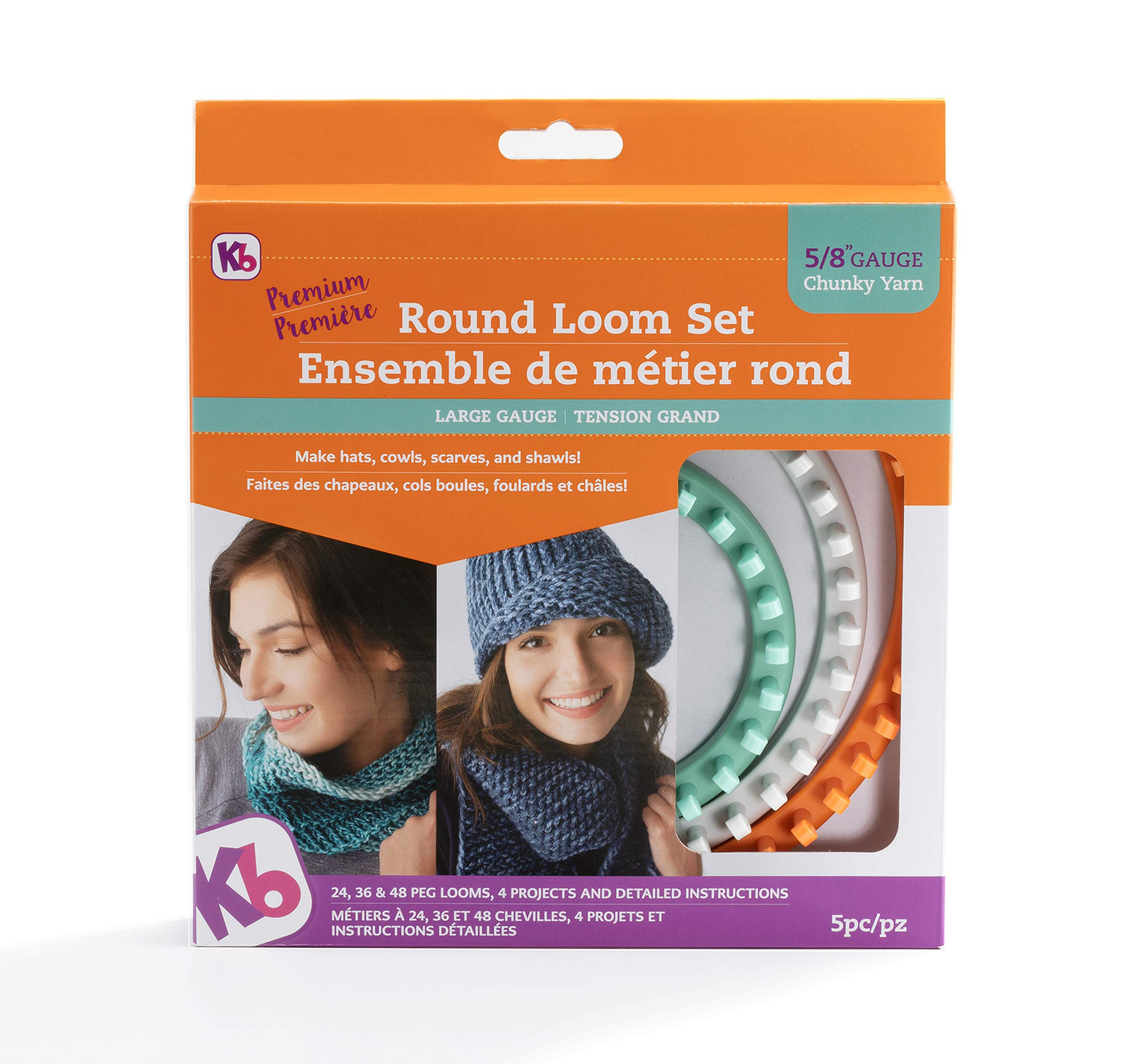Authentic Knitting Board KB8150 ' 'Premium' Chunky Round Knitting Loom Set by Authentic Knitting Board (Image #3)