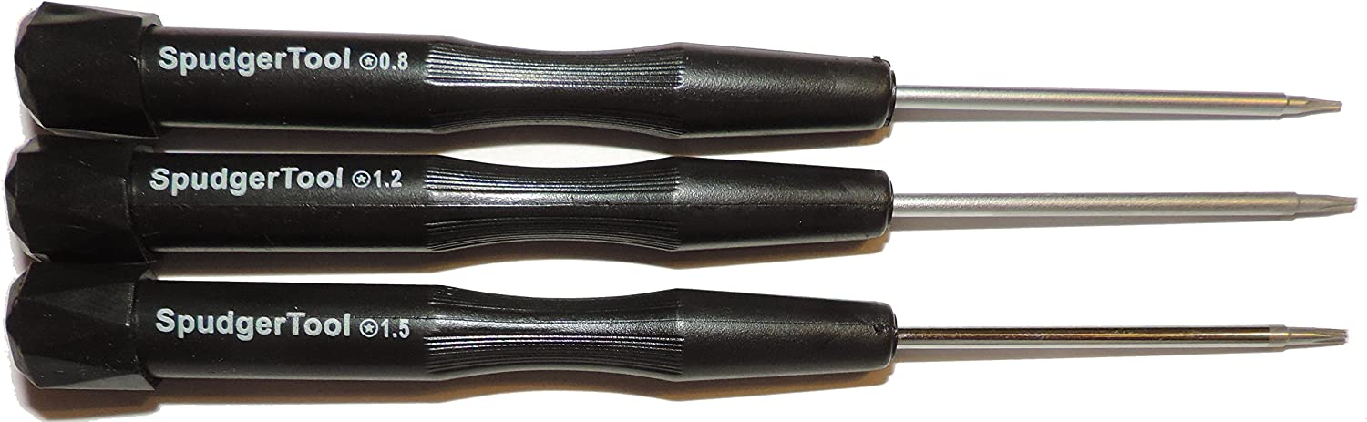 All 3 Proprietary Apple Pentalobe Screwdrivers: 5 Star P2 P5 P6 (TS1 TS4 TS5) (PL1 PL4 PL5) Quantity (3 Pentalobe)