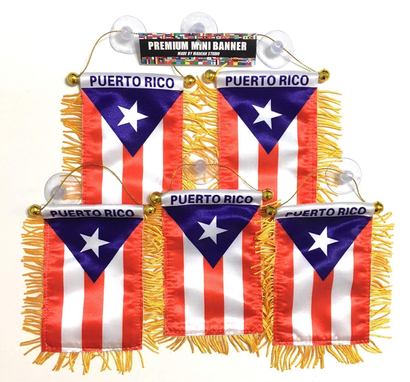 Bandera de Puerto Rico, Paquete de 5 Unidades de Valor al por ...
