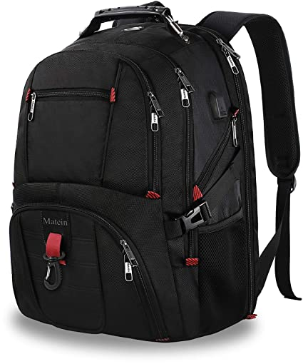 Extra Large Backpack,TSA Friendly Travel Laptop Backpack for Men and Women  with USB Port Headphone b903500335