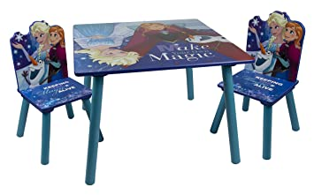 Disney Frozen Eiskonigin Sitzgruppe Tisch Und 2 Stuhle Aus Holz