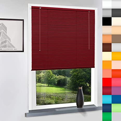 Kunststoff-Jalousie Breite und H/öhe im Angebot w/ählbar PVC-Jalousie hier: 80x160cm Farbe: wei/ß