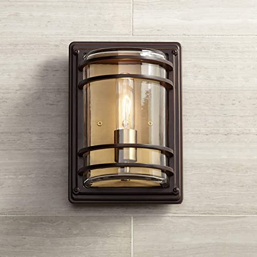 MOTINI Outdoor Wall Light Lantern with Motion Sensor Modern Waterproof Wall Sconce for Porch,Entryway Exterior Light Fixture,Bulb Included
