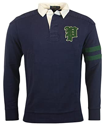 Polo Ralph Lauren Men\u0027s Custom Fit Gothic \u0027P\u0027 Rugby, ...