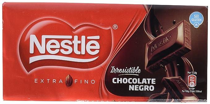 Nestlé Extrafino - Tableta de Chocolate Negro - 125 g