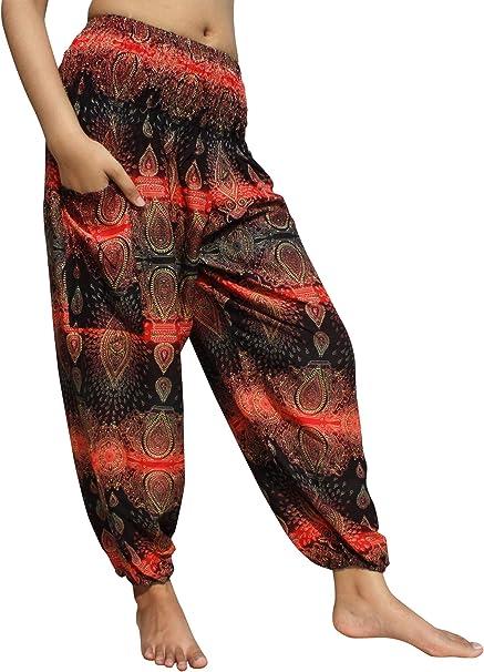 Full Funk Smock Waist Viscose Aladdin Pants Earth Strata Mixed Colours