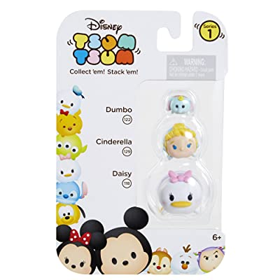 Tsum Tsum 3-Pack Figures: Daisy/Cinderella/Dumbo: Toys & Games