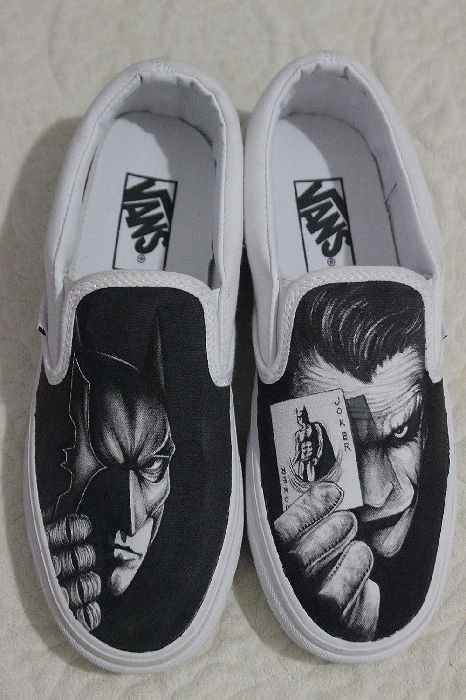 5dc9ab36a844 Batman Joker Custom Vans Hand Painted Batman Shoes Free Shipping   Amazon.ca  Handmade