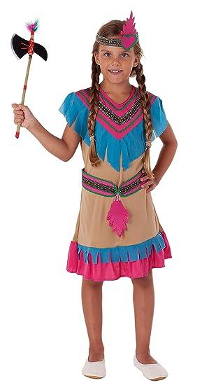 Magicoo Prinzessin Indianer Kostum Kinder Madchen Beige