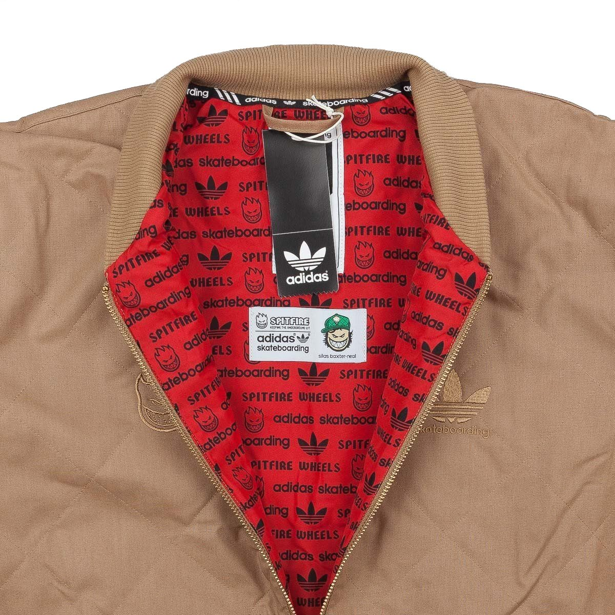 cdba5d874549 adidas Silas Spitfire Cardboard Khaki Embroidered Men s Jacket (Large) at  Amazon Men s Clothing store