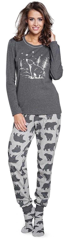 TALLA M. Italian Fashion IF Pijama Camiseta y Pantalones Mujer IF180002