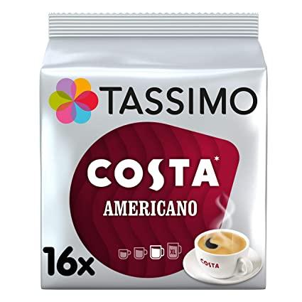 Tassimo Costa Americano 16 T Discos (5 unidades, total 80 T ...