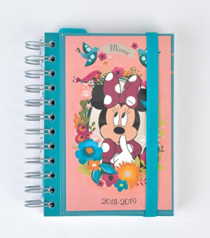Grupo Erik Editores Mickey Minnie- Agenda escolar 2018-2019 día página multilingüe, 11.4 x 16 cm