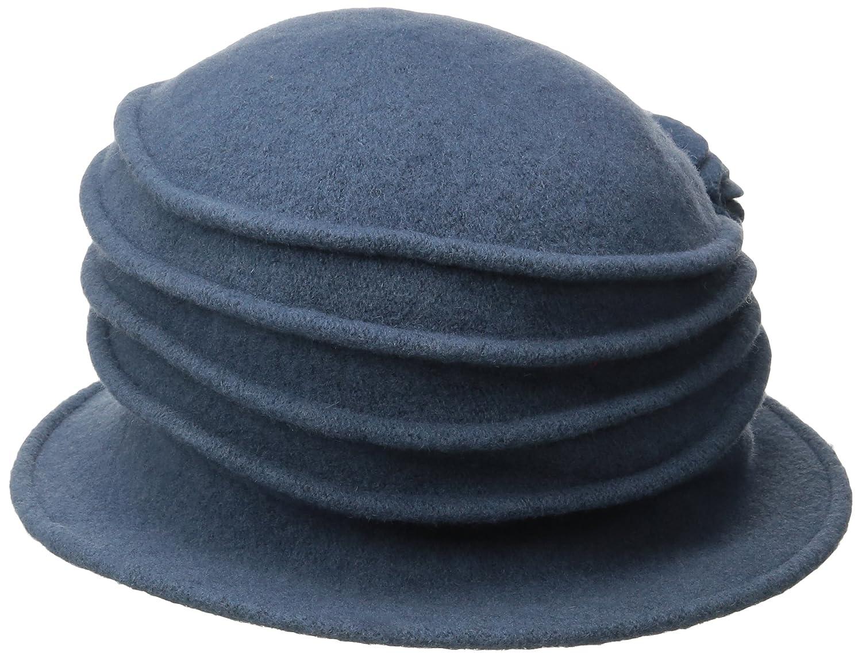 26cf5da9460 Scala Women s Boiled Wool Cloche Hat with Flower  Amazon.ca  Luggage   Bags
