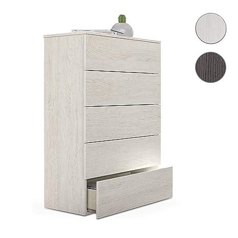 Habitdesign - cassettiera 5 cassetti, cassettiera Camera da Letto ...