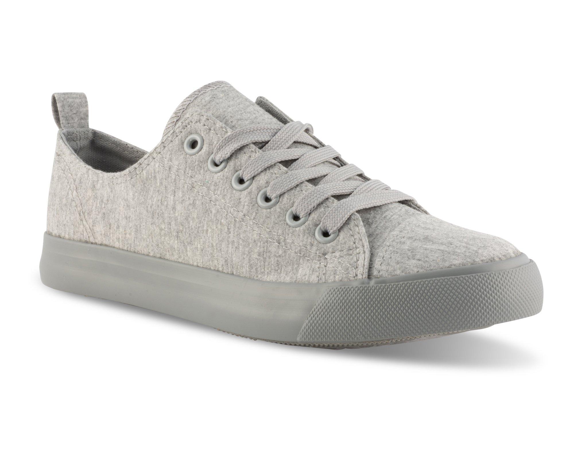 Twisted Women's Low Top Canvas Sneaker -KIXLO303 Grey Jersey, Size 8.5