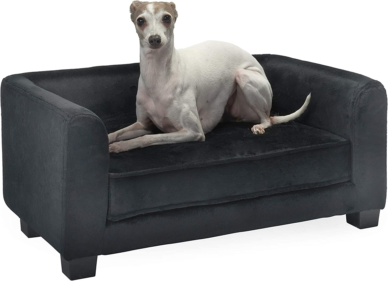 Enchanted Home Pet Surrey Pet Sofa Black