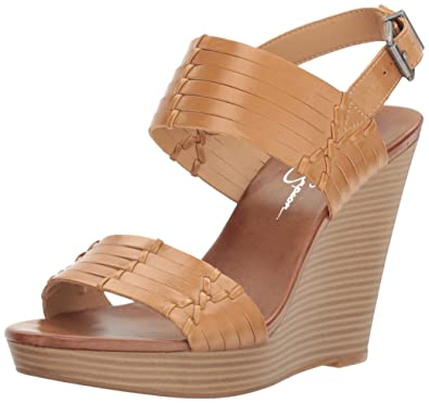 1cc7e8467009 Jessica Simpson Women s JAYLEESA Wedge Sandal Buff 10 Medium US