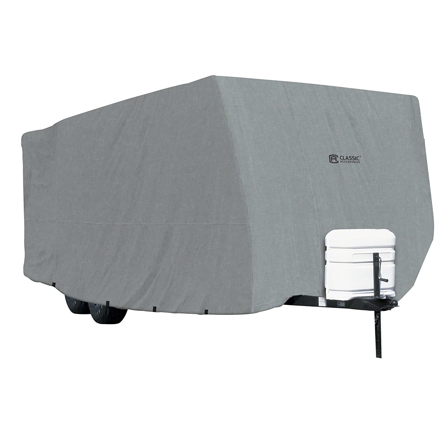 Classic Accessories OverDrive PolyPRO 1 Travel Trailer RV Cover, Fits 27' - 30' RVs - Breathable and Water Repellant Travel Trailer Cover (80-178-181001-00) Fits 27' - 30' RVs - Breathable and Water Repellant Travel Trailer Cover (80-178-181001-00)