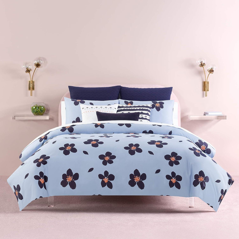Kate Spade New York Grand Floral Comforter Set Twin XLong Bedding, Blue