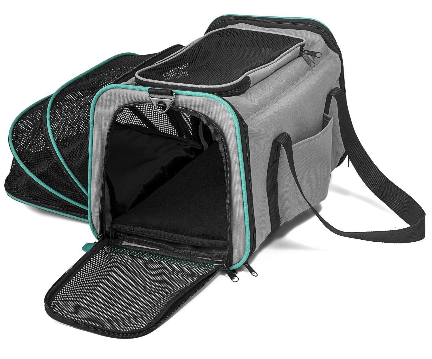Pawdle Expandable and Foldable Pet Carrier Domestic Airline Approved (Heather Gray) by Pawdle (Image #1)