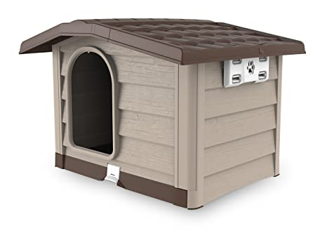 Cucce Per Cani Da Esterno In Plastica.Bama Bungalow Cuccia Beige M Amazon It Giardino E Giardinaggio