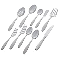 Deals on 45-Pc Stone & Beam Traditional Flatware Set Service for 8