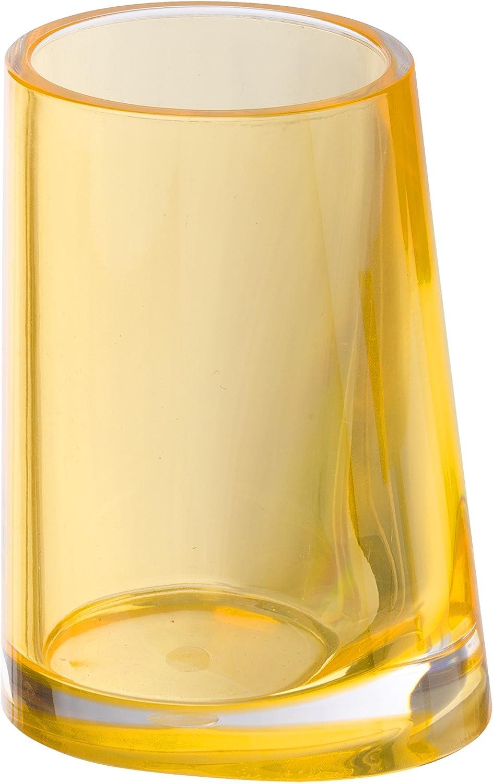Color Blanco de acr/ílico 8 x 11 x 6.7 cm Vaso de Dientes Wenko Paradise White