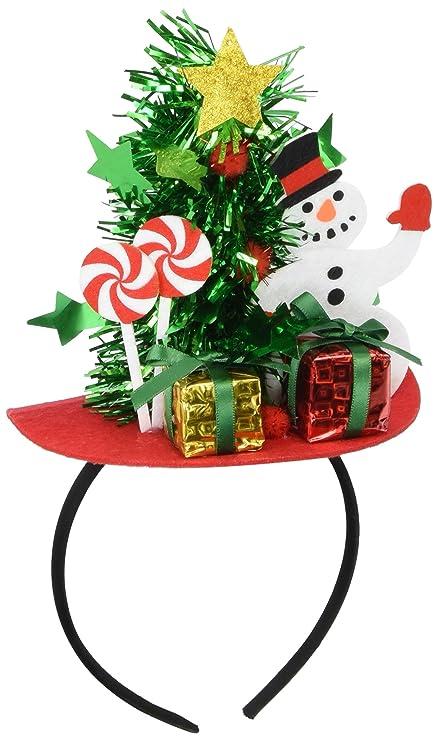 forum novelties mini christmas tree headband with presents - Christmas Forum