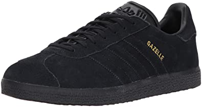 promo code 1d7c1 87c10 adidas Originals Gazelle Sneaker,BlackBlackMetallic Gold,4 Medium US