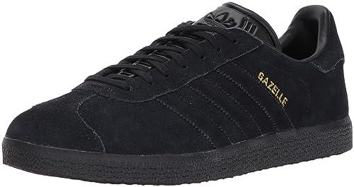 size 40 b04e0 b1da1 adidas Originals Gazelle Sneaker,Black Black Metallic Gold,4 Medium US