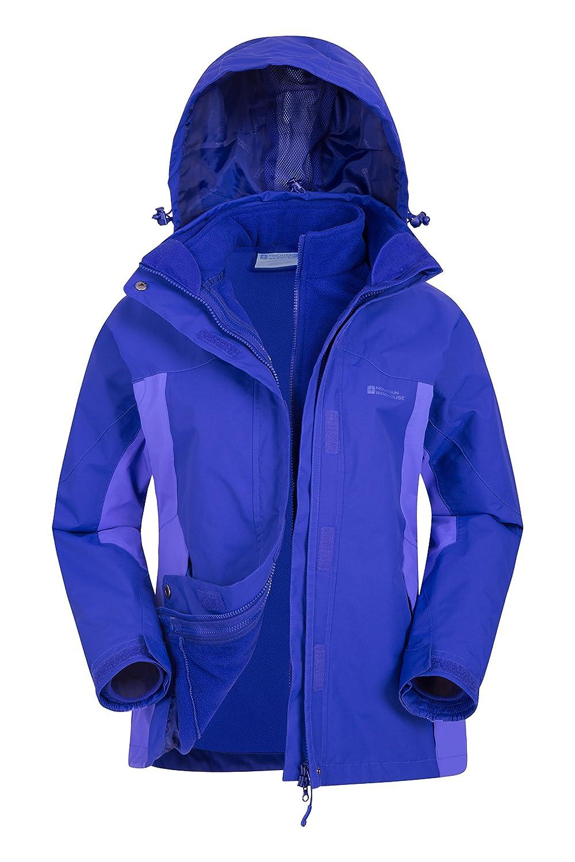 Mountain Warehouse Storm 3-in-1 Womens Jacket -Waterproof Ladies Coat