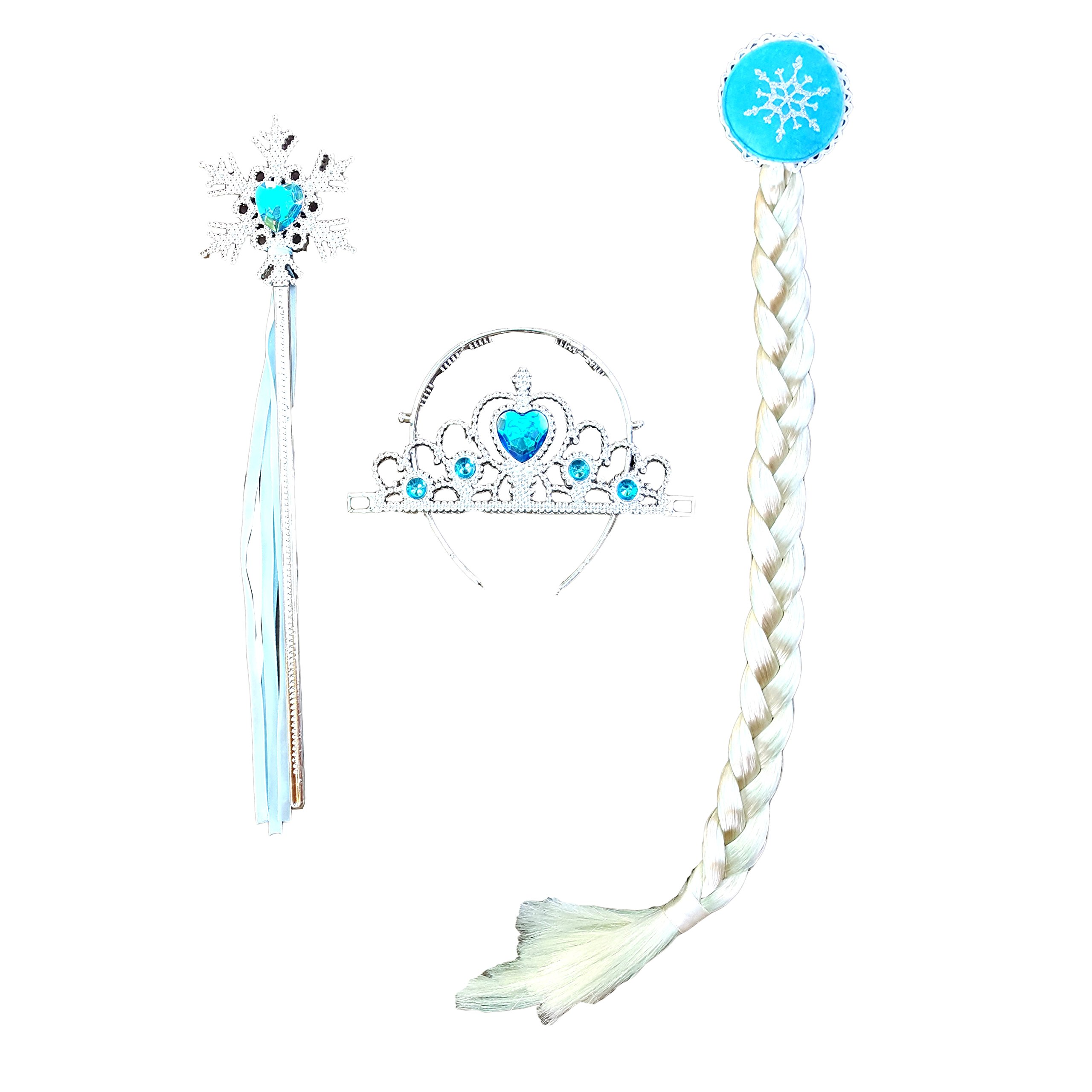 DailyProposal 4 Pieces Pack Elsa & Anna Disney Frozen Princess Accessory USA (Elsa Snowflake)