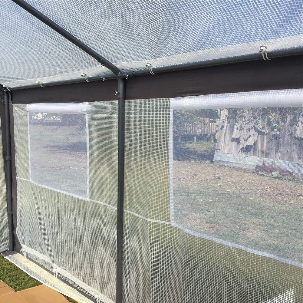 Abba Patio 10 x 20-Feet Large Walk in Fully Enclosed Lawn and Garden Greenhouse with Windows, White by Abba Patio (Image #2)