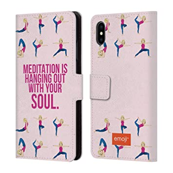 Officiel Emoji Yoga Collection Sauvage Etui Coque De Livre