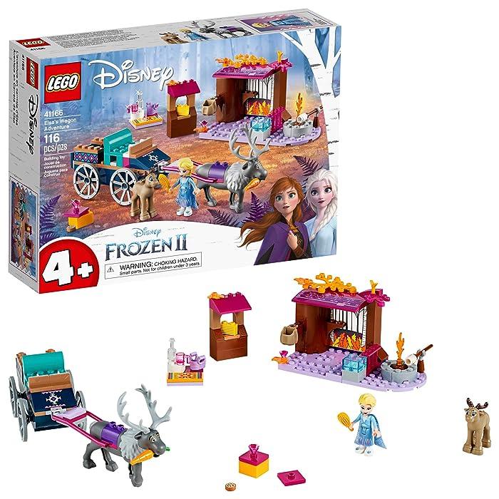 LEGO Disney Frozen II Elsa's Wagon Carriage Adventure 41166 Building Kit with Elsa & Sven Toy Figure (116 Pieces)