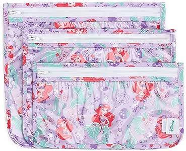 """Bumkins Disney Travel Bag, Ariel, 3ct (L: 9.5""""X 8.5""""; M: 9""""x7""""; S: 9""""x5"""")"""