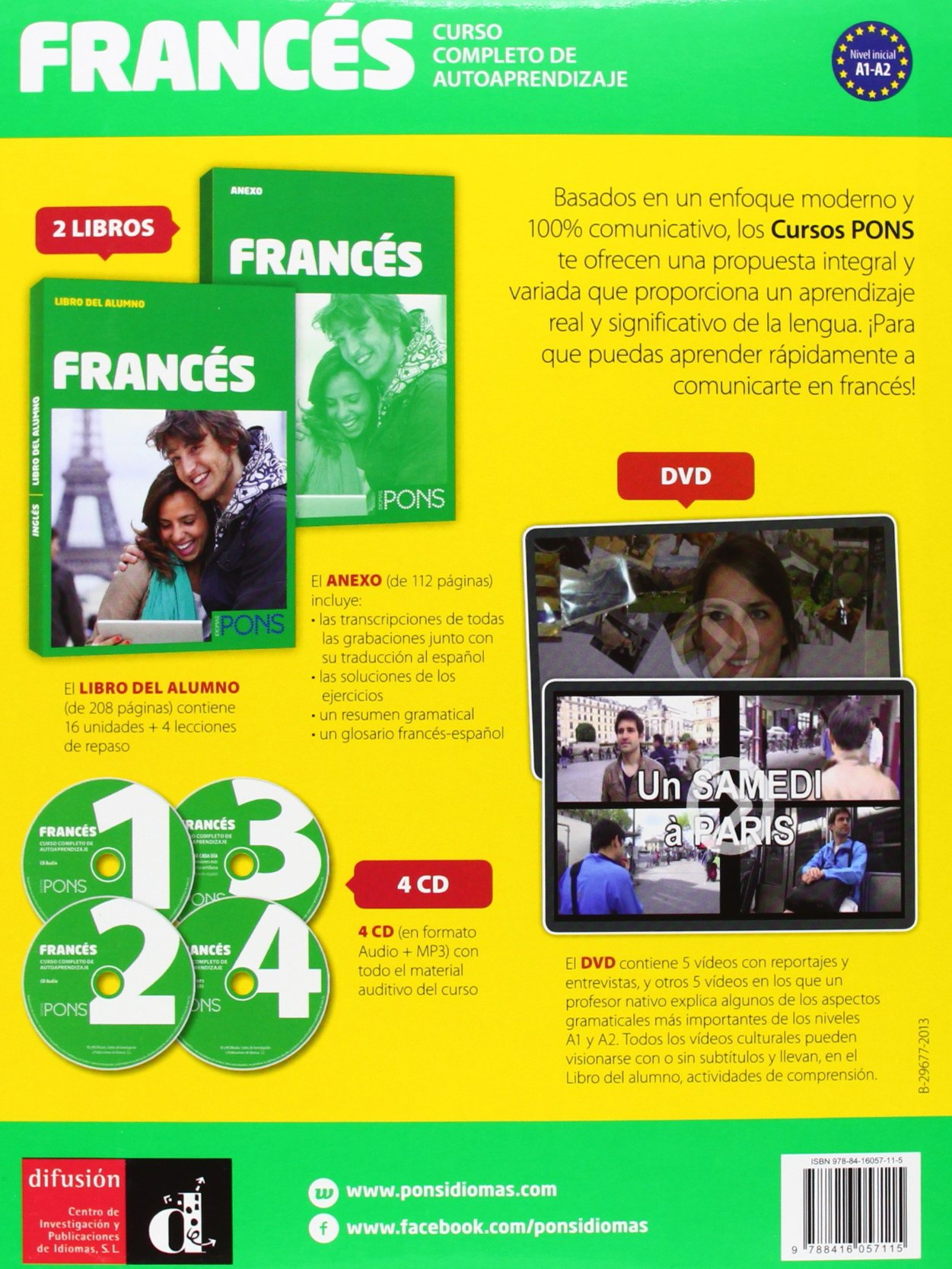 Curso pons frances a1 a2 4cd audio mp3 dvd 2014 spanish curso pons frances a1 a2 4cd audio mp3 dvd 2014 spanish edition varios autores 9788416057115 amazon books fandeluxe Images