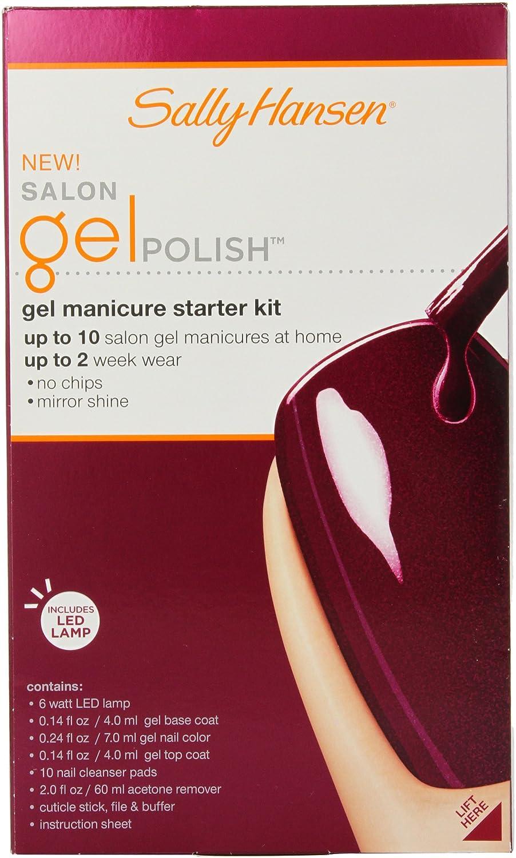 Amazon.com : Sally Hansen Salon Pro Gel Starter Kit, Wine Not : Nail Polish  : Beauty