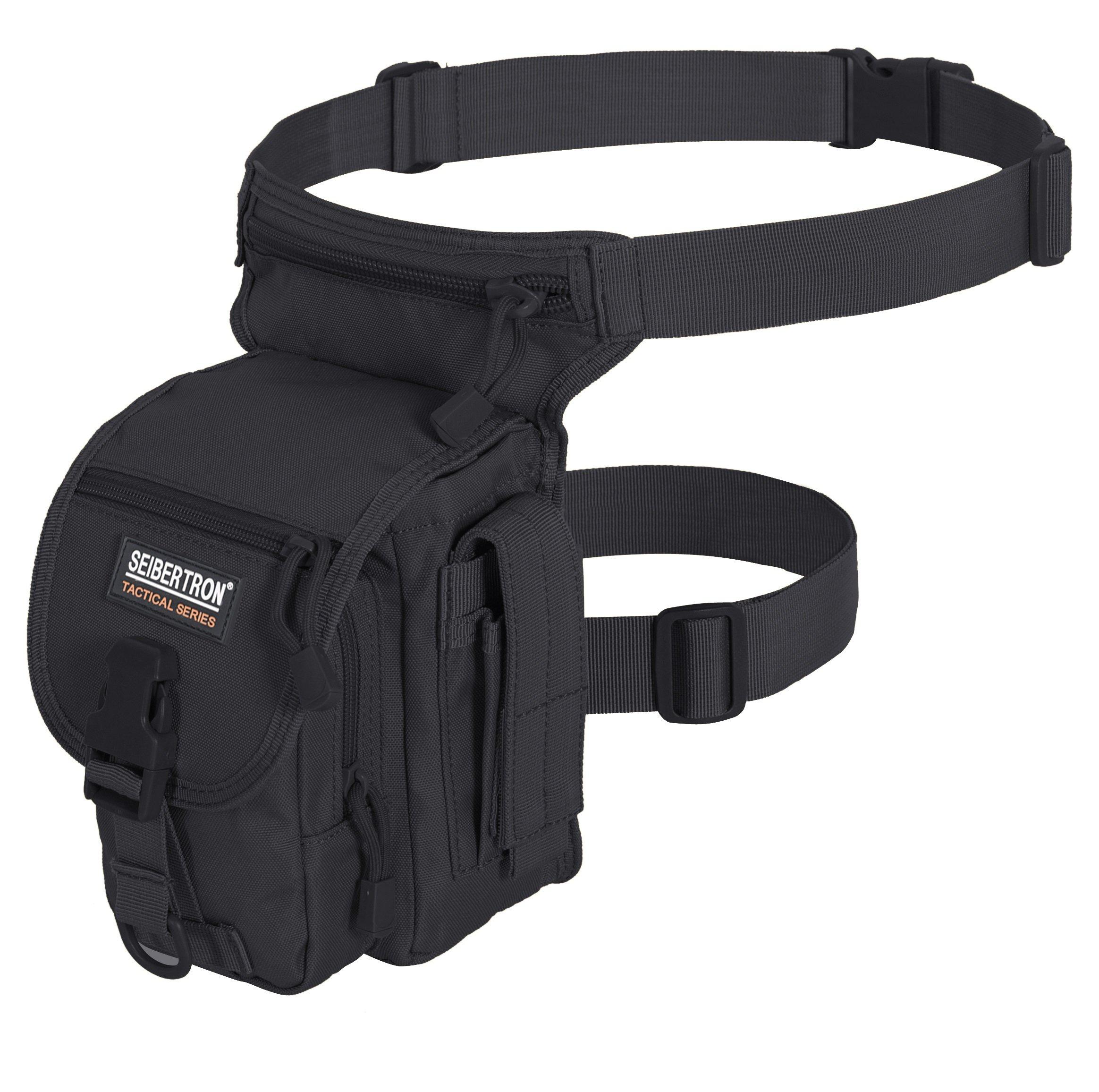 Seibertron Multi-purpose Waterproof Sports Riding Racing Motorcycle Leg Bag Tool Phone Travel Bag Black