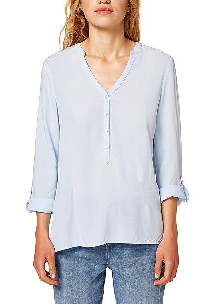 Esprit 998ee1f802, Blusa para Mujer, Azul (Light Blue 440), 36 (