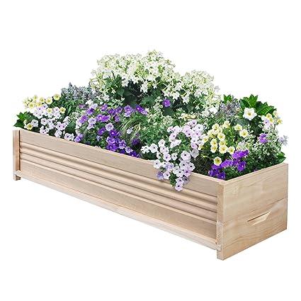 Gentil Greenes Fence Cedar Patio Planter Box, 36 Inch, 1 Planter