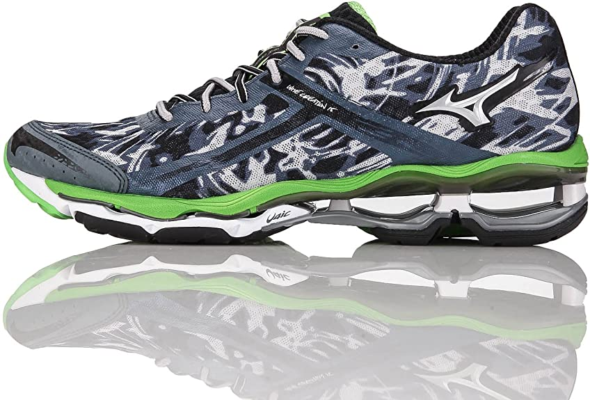 Mizuno Wave Creation 15 - Zapatillas de Running para Hombre, Color Verde, Talla 46.5: Amazon.es: Zapatos y complementos